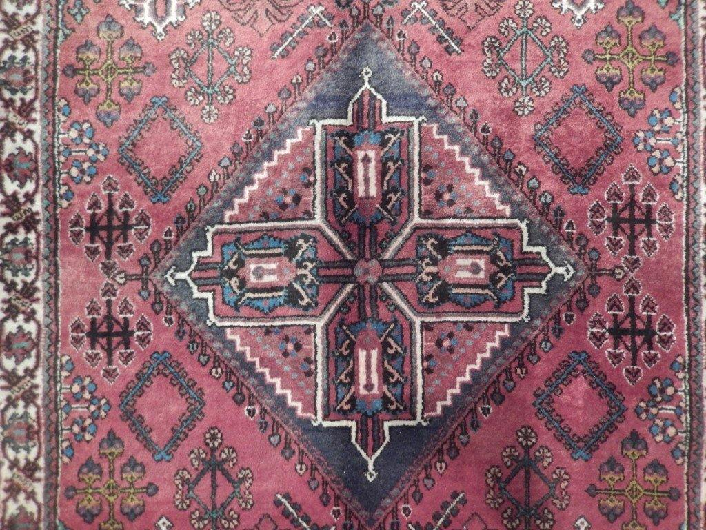 4x10 Authentic Hand Knotted Semi-Antique Persian Abadeh Runner - Iran