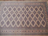4x6 Authentic Hand Knotted Jaldar Bokhara Rug - Pakistan