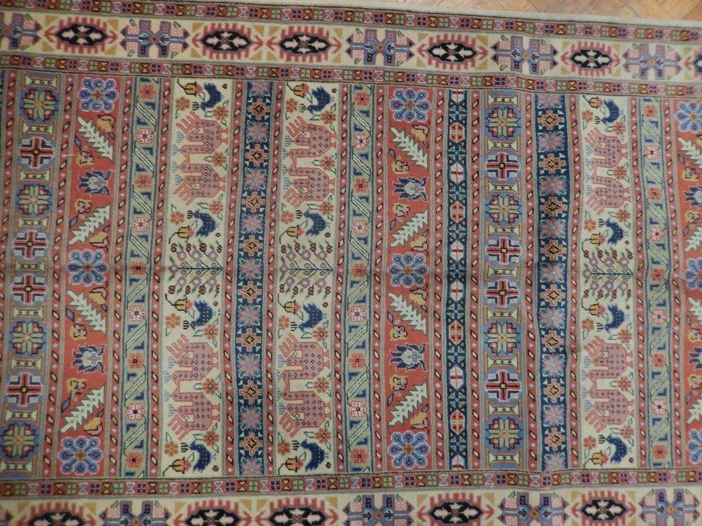 Luxurious 4x14 Authentic Hand Knotted Fine Persian Runner - Iran