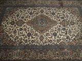 Harooni Rugs - Premium 7x10 Authentic Hand Knotted Semi-Antique Persian Kashan Rug - Iran
