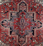 7x10 Authentic Hand Knotted Persian Heriz Rug - Iran