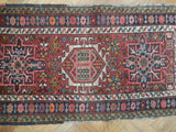 2x4 Authentic Hand Knotted Antique Persian Karaja Rug - Iran