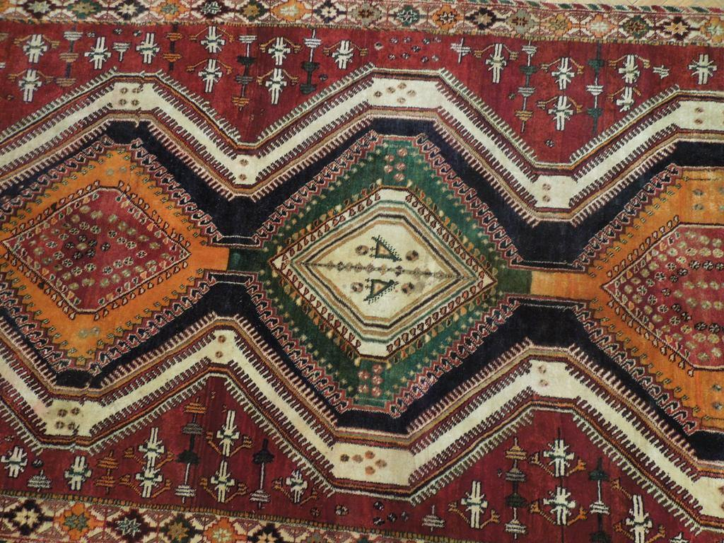 5x10 Authentic Hand Knotted Tribal Persian Shiraz Rug - Iran