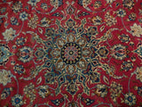 10x13 Authentic Hand Knotted Semi-Antique Persian Isfahan Rug - Iran