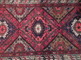 3x10 Authentic Hand Knotted Semi-Antique Persian Hamadan Runner - Iran