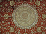 10x10 Authentic Handmade Round Silk Rug - China