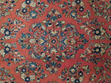 7x11 Authentic Hand Knotted Fine Persian Sarouk Rug - Iran