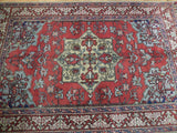5x8 Authentic Hand Knotted Semi-Antique Persian Heriz Rug - Iran