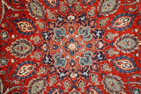 10x13 Authentic Hand Knotted Sheikh-Safi Persian Mashad Rug - Iran