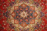 10x13 Authentic Hand Knotted Semi-Antique Persian Mashad Rug - Iran