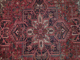 8x11 Authentic Hand-Knotted Persian Heriz Rug - Iran