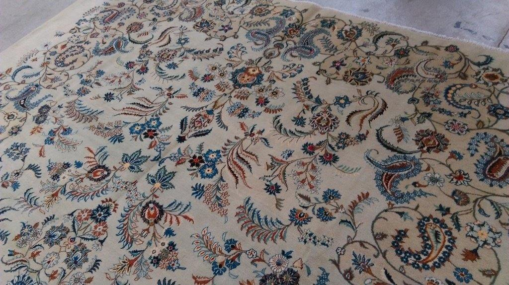 11x14 Authentic Hand Knotted Persian Kashan Rug - Iran - bestrugplace