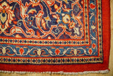 10x14 Authentic Hand Knotted Semi-Antique Persian Sarouk Rug - Iran