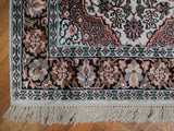 Dazzling 3x4 Authentic Handmade Kashmir Silk Rug - India
