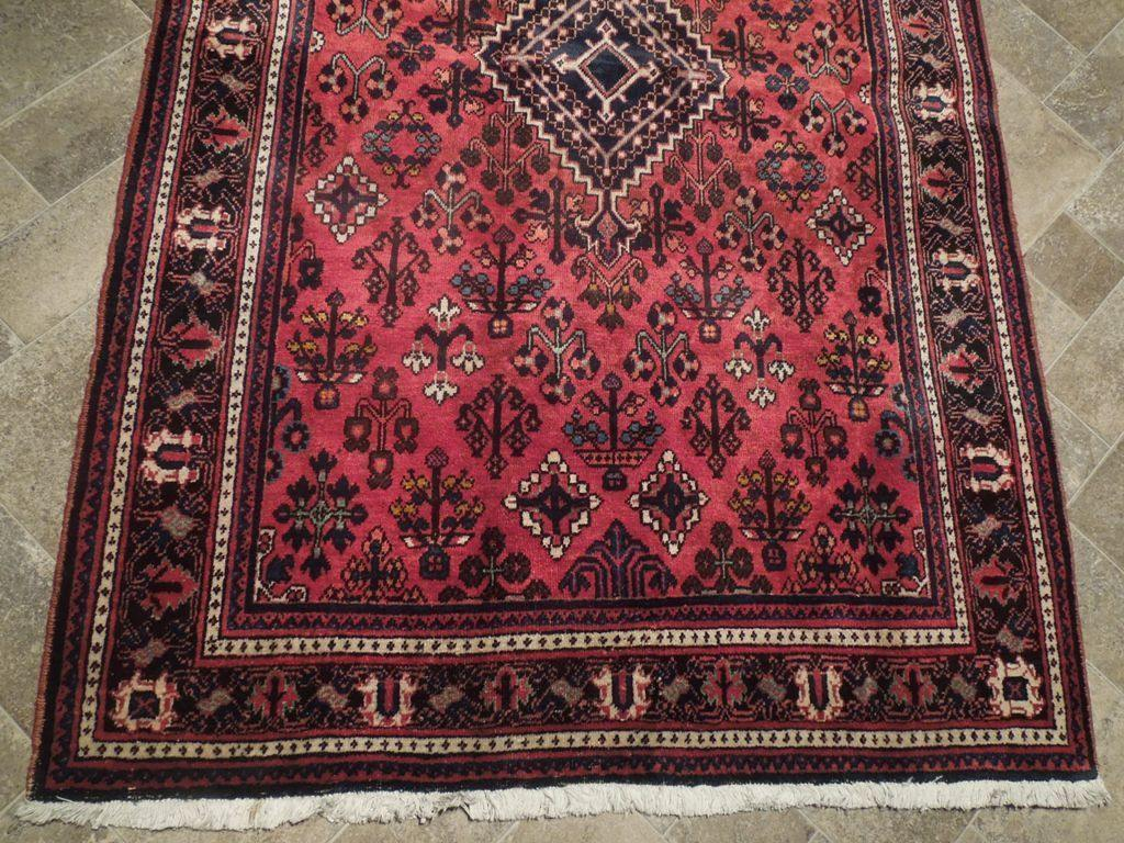 4x7 Authentic Hand Knotted Semi-Antique Persian Josheghan Rug - Iran