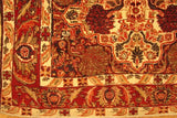 3x5 Authentic Handmade Semi Antique Persian Tabriz Rug-Iran