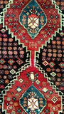 4x13 Authentic Hand Knotted Persian Hamadan Rug - Iran