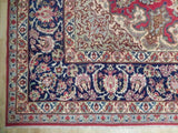 10x15 Authentic Handmade Semi-Antique Persian Esfahan Rug - Iran