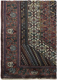 4x6 Authentic Hand-knotted Persian Hamadan Rug - Iran
