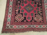 Harooni Originals - 4x8 Authentic Hand Knotted Semi-Antique Russian Kazak Runner - Traditional