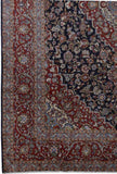 9x13 Authentic Hand-knotted Persian Signed Kashan Rug - Iran