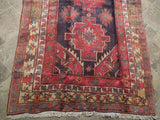 Radiant 4x11 Authentic Hand Knotted Semi-Antique Russian Kazak Runner - Caucasian Region
