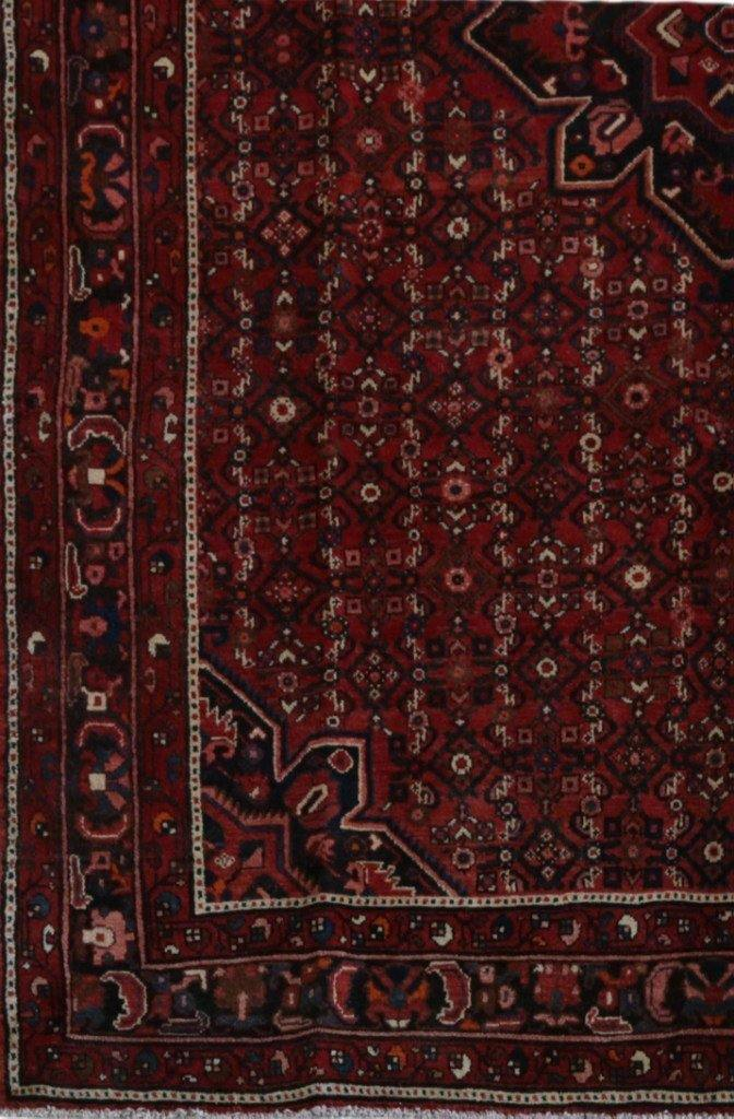 7x10 Authentic Hand-knotted Persian Hamadan Rug - Iran - bestrugplace