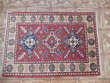 2x3 Authentic Hand Knotted Kazak Rug - Pakistan