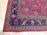 8x11 Authentic Hand Knotted Semi-Antique Persian Kashan Rug - Iran