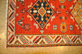 Harooni Rugs - Dazzling 3x6 Authentic Hand-Knotted Kazak Runner Rug - India