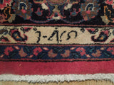 Harooni Rugs - Vintage 8x12 Authentic Hand Knotted Signed Persian Mashad Rug - Iran