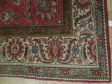 9x12 Authentic Hand Knotted Semi-Antique Persian Mahal Rug - Iran