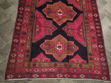 Harooni Rugs - Pristine 4x10 Authentic Hand Knotted Semi-Antique Persian Hamadan Runner - Iran
