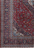 8x12 Authentic Hand-knotted Persian Kashan Rug - Iran