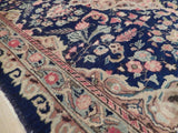 4x6 Authentic Handmade Antique Persian Kashan Rug - Iran