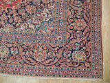 Harooni Rugs - Premium 9x13 Authentic Hand Knotted Semi-Antique Persian Kashan Rug - Iran