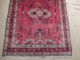 4x10 Authentic Hand Knotted Semi-Antique Persian Sarouk Runner - Iran
