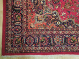 Fascinating 9x13 Authentic Hand Knotted Persian Semi-Antique Kashan Rug - Iran