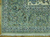 12x23 Authentic Handmade Signed Persian Kashan Rug-Iran
