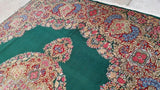 10x13 Authentic Hand Knotted Persian Kerman Rug - Iran