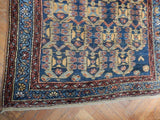 3x13 Authentic Hand Knotted Persian Hamadan Runner - Iran