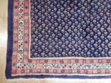 Harooni Rugs - Vintage 4x10 Authentic Handmade Semi-Antique Persian Mir Runner - Iran
