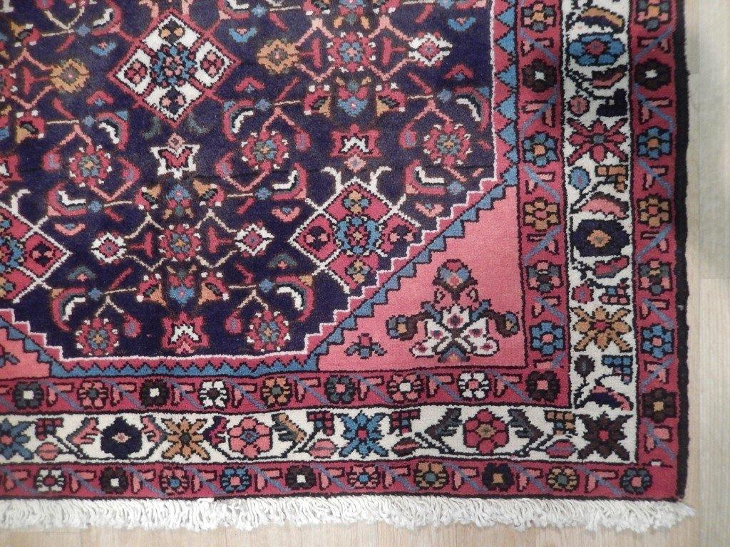4x10 Authentic Hand Knotted Semi-Antique Persian Herati Runner - Iran
