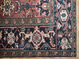 7x10 Authentic Handmade Antique Persian Heriz Rug - Iran