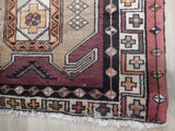 Stunning 3x13 Authentic Hand Knotted Semi-Antique Iran Mousel Runner - Iran