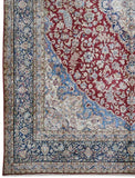 10x13 Authentic Hand-knotted Persian Signed Kerman Rug - Iran