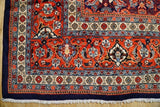 10x12 Authentic Hand Knotted Semi-Antique Persian Herati Rug - Iran