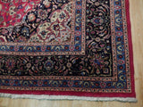 10x14 Authentic Hand Knotted Semi-Antique Persian Kashan Rug - Iran