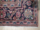 4x7 Authentic Hand Knotted Semi-Antique Persian Kashan Rug - Iran