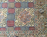 10x13 Authentic Hand Knotted Persian Wool & Silk Nain Rug - Iran